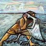 יעקב נאבק במלאך, דוד אבישר, ישראל