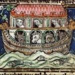 היונה חוזרת עם עלה זית, הגדת פרטו, 1325~