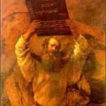 משה מקבל את לוחות הברית על-פי רמברנדט (1659)